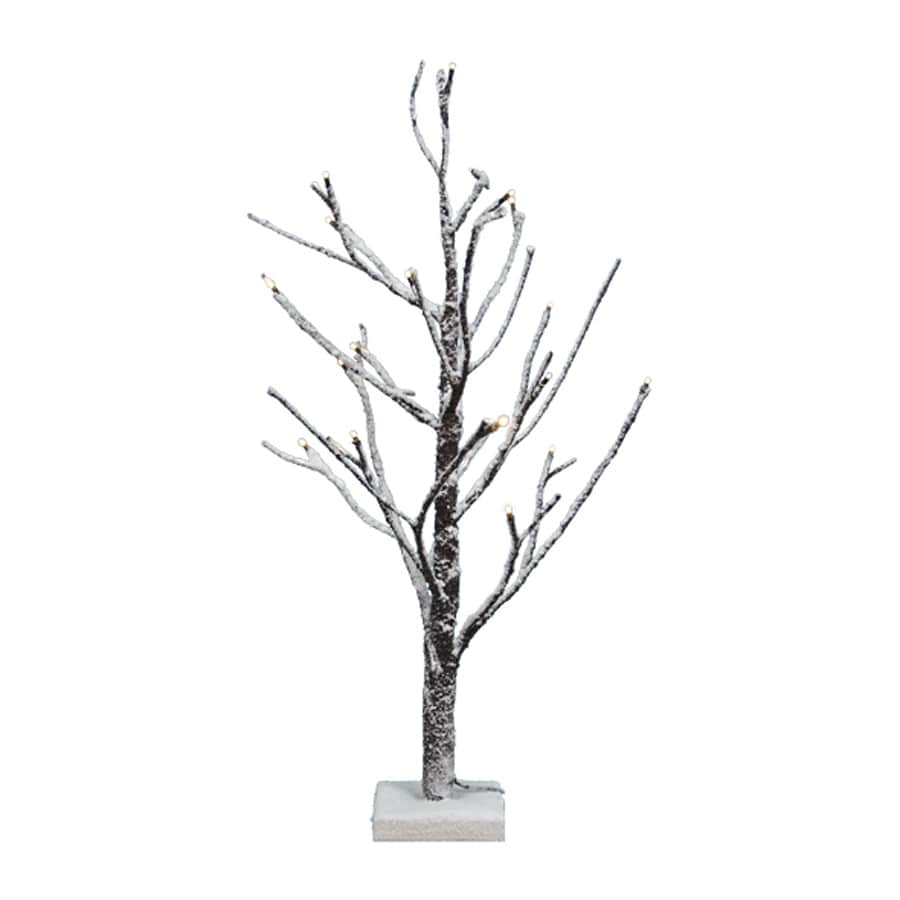 Fantastic Craft 2-ft Pre-Lit Twig Slim Flocked Artificial Christmas Tree with 20 Clear White LED Lights