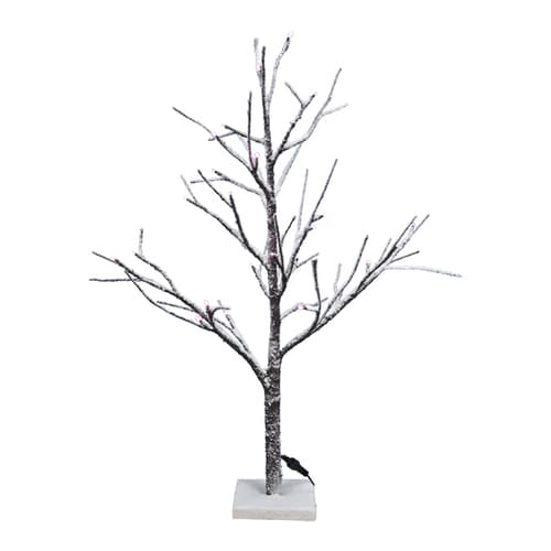 Pre Lit Christmas Twig Tree: Fantastic Craft 3-ft Pre-lit Twig Slim Flocked Artificial