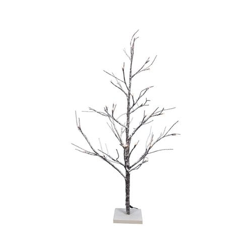 White 4 Foot Christmas Tree: Fantastic Craft 4-ft Pre-lit Twig Slim Flocked Artificial