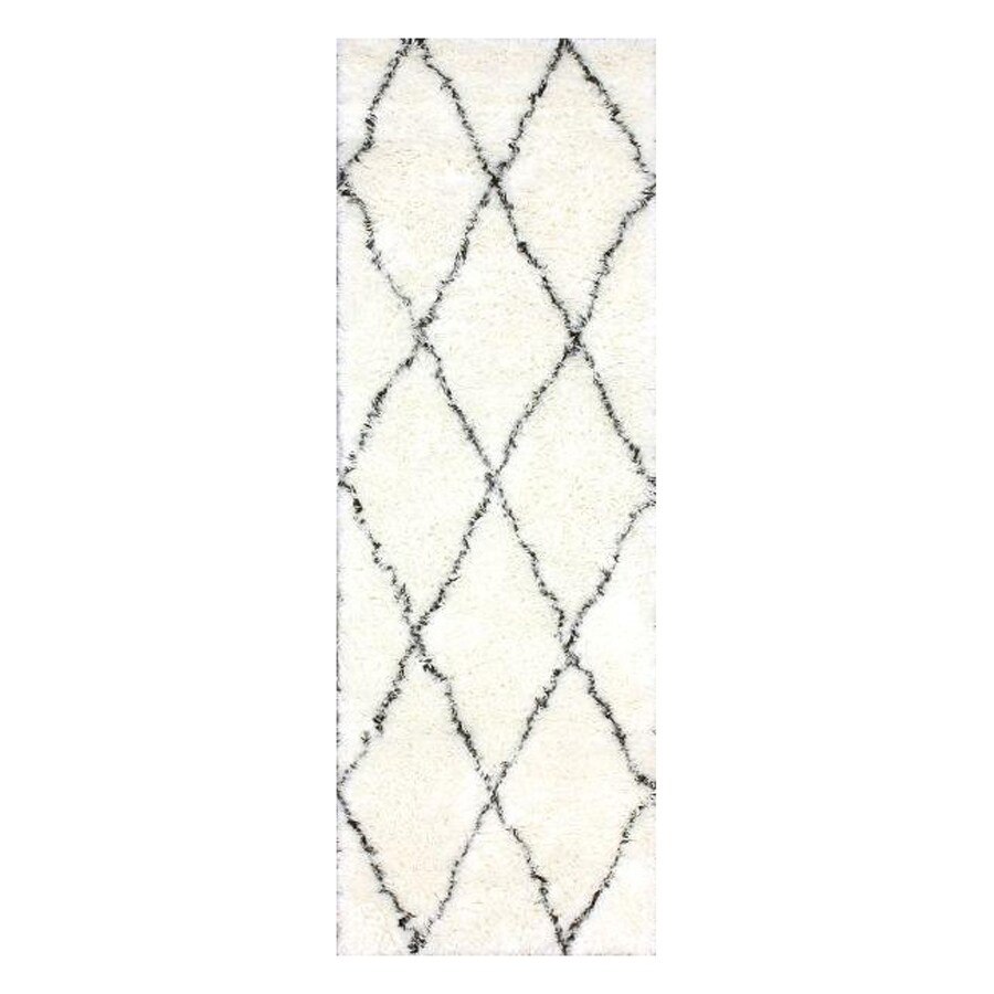 nuLOOM Marrakesh Ivory Rectangular Indoor Shag Runner (Common: 2 x 8; Actual: 2.5-ft W x 8-ft L)