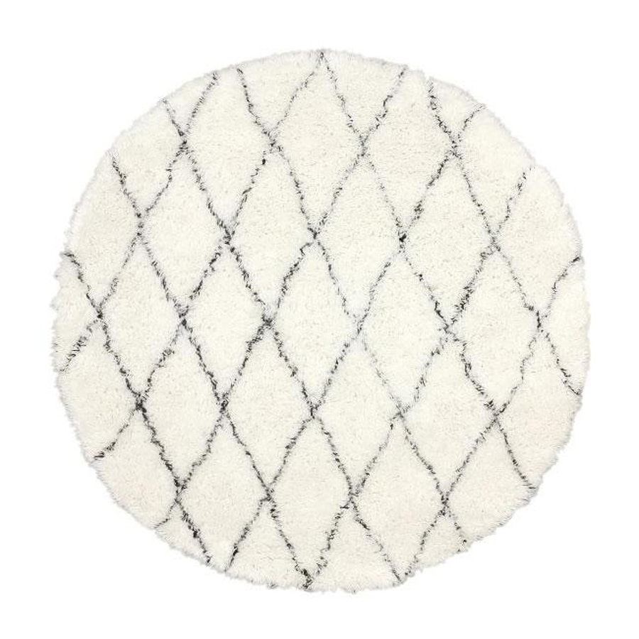 nuLOOM Marrakesh Ivory Round Indoor Shag Area Rug (6-ft Dia)