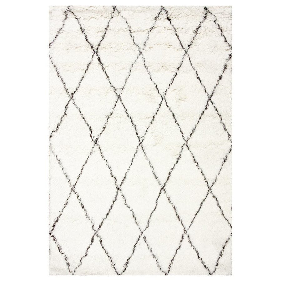 nuLOOM Marrakesh Ivory Rectangular Indoor Shag Area Rug (Common: 6 x 9; Actual: 72-in W x 108-in L)