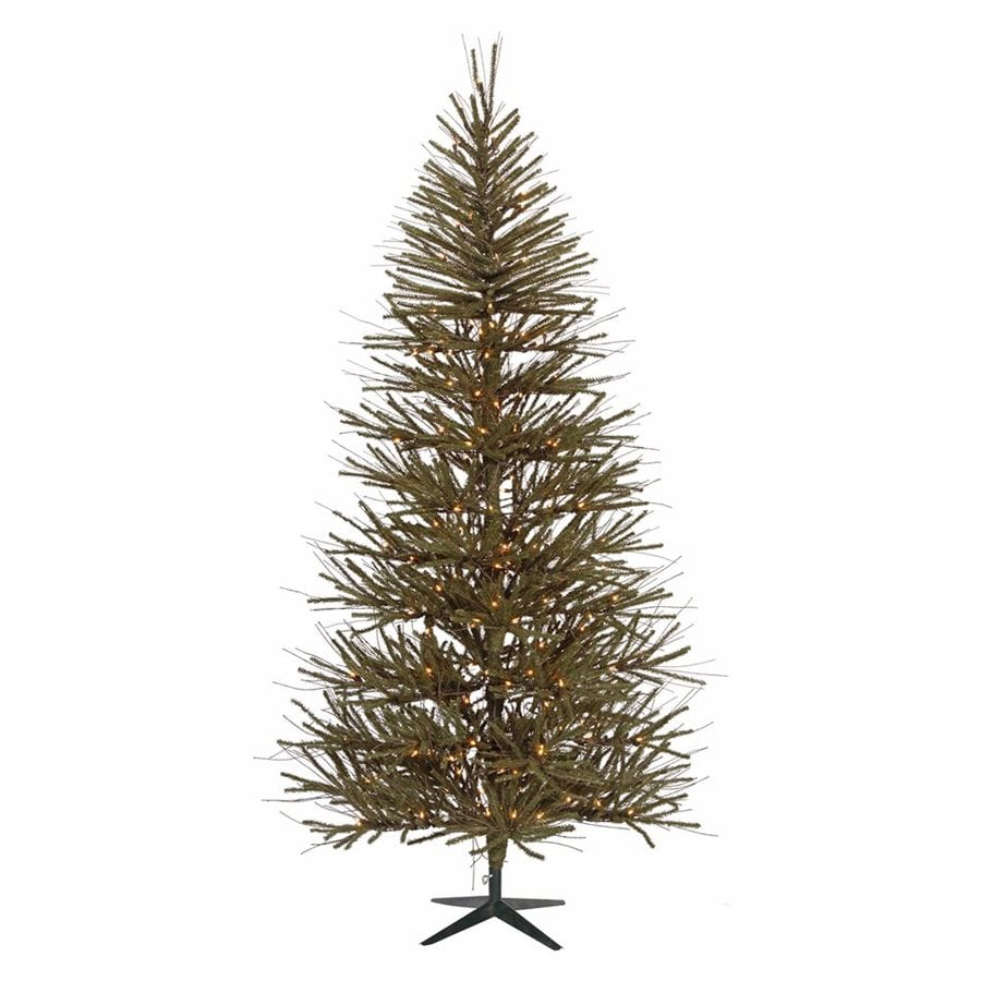 Northlight 5-ft Pre-Lit Slim Artificial Christmas Tree with Clear White Incandescent Lights