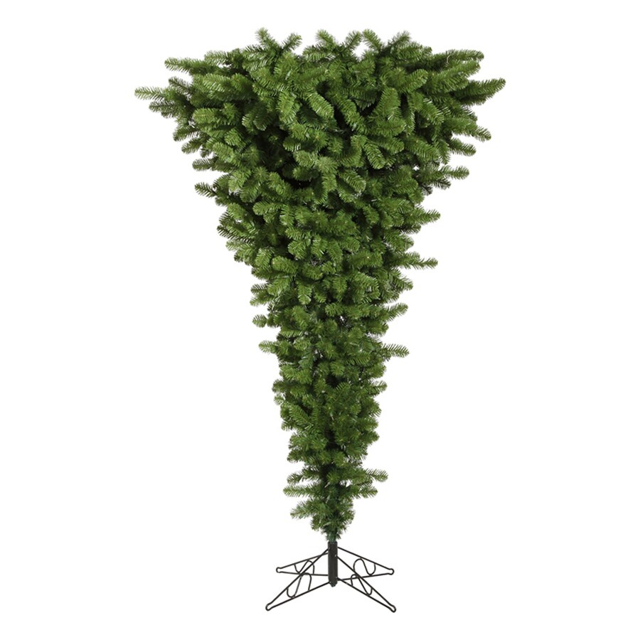 Shop Northlight 9-ft Pre-lit Upside-down Artificial Christmas Tree ...