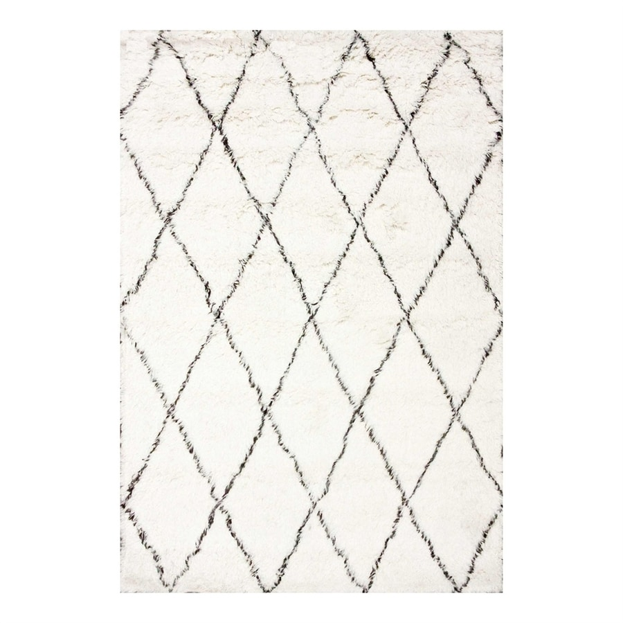 nuLOOM Marrakesh Ivory Rectangular Indoor Shag Area Rug (Common: 9 x 12; Actual: 108-in W x 144-in L)