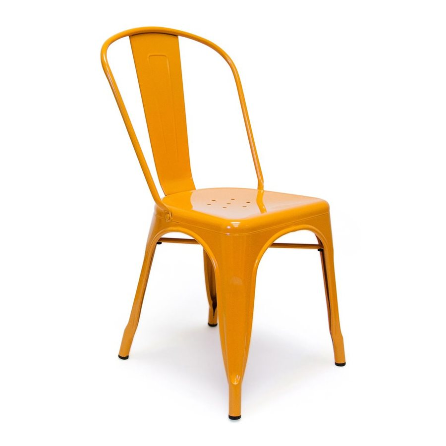 AEON Furniture Set of 2 Garvin Orange Stackable Side Chairs