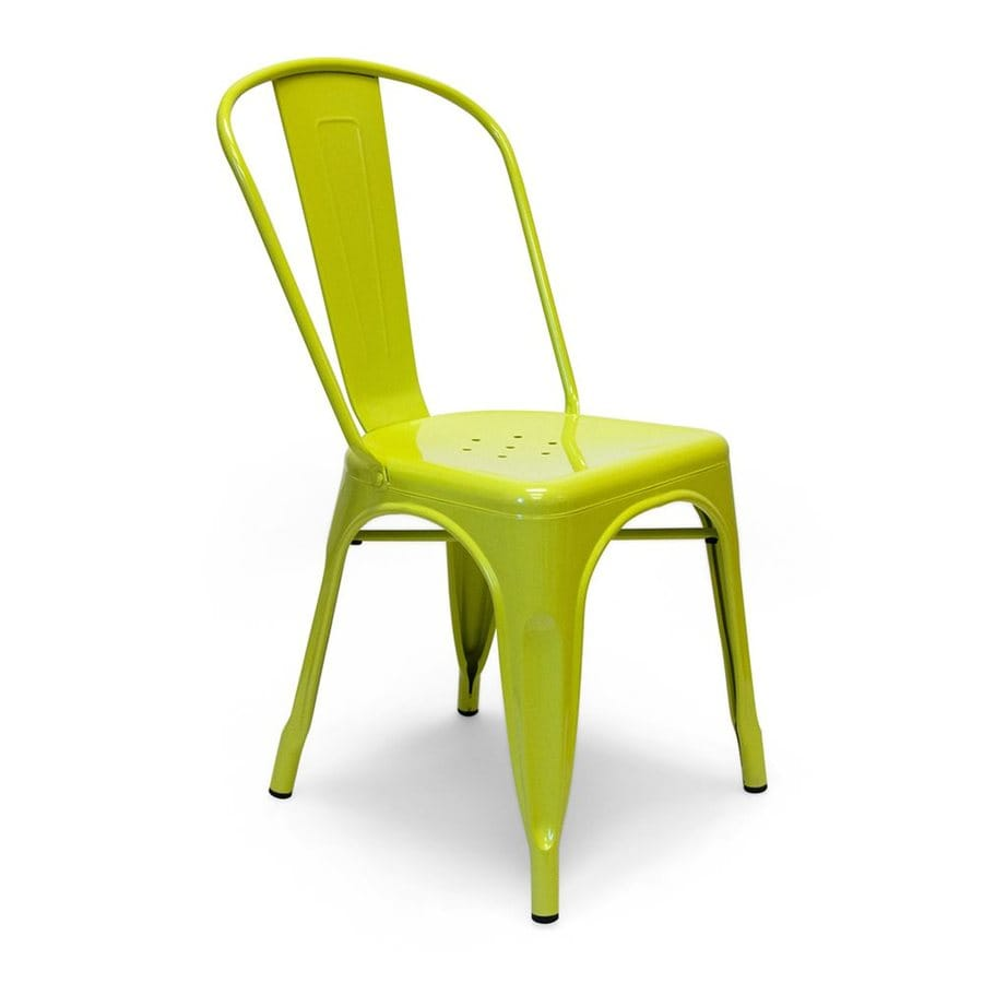 AEON Furniture Set of 2 Garvin Lime Stackable Side Chairs