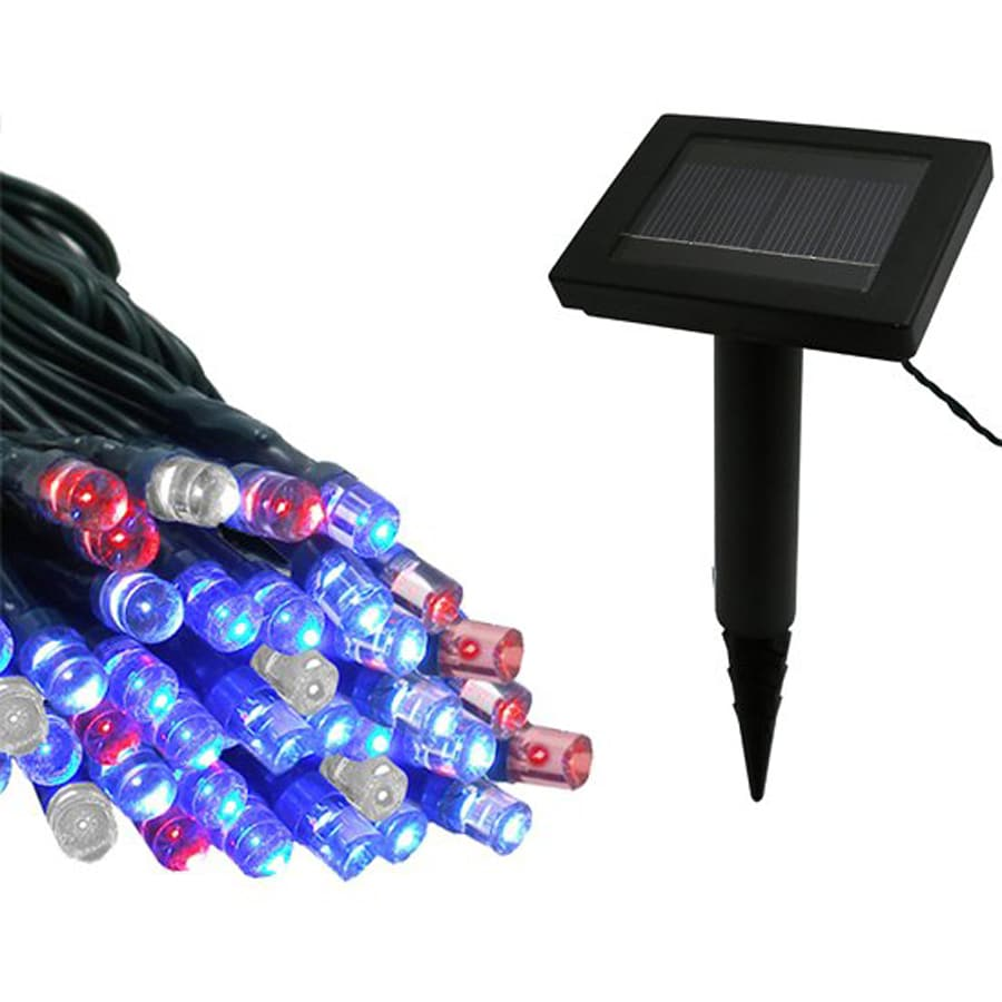 Outdoor Patio String Lights Lowes: Shop Flipo 39-ft 100-Light Multicolor LED Solar 4Th Of
