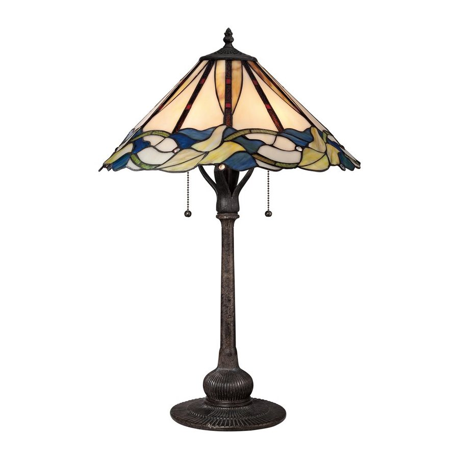 shop quoizel palmetto 26 5 in imperial bronze table lamp. Black Bedroom Furniture Sets. Home Design Ideas