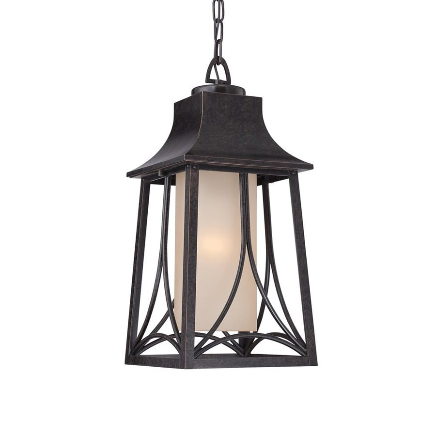Quoizel Hunter 19-in Imperial Bronze Outdoor Pendant Light