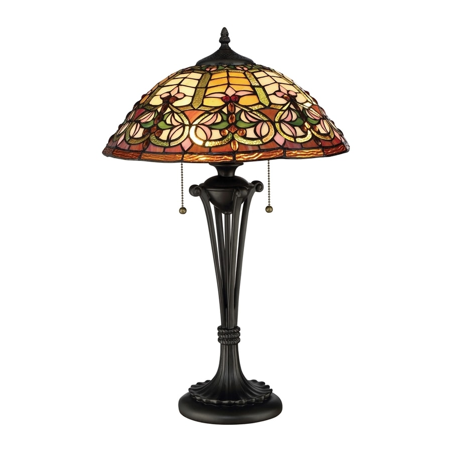 Lowes Table Lamps: Quoizel Flowing Heart 24-in Dark Bronze Table Lamp With