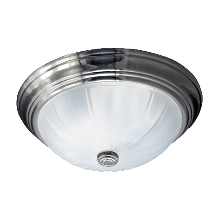 Quoizel Melon 10.5-in W Empire Silver Ceiling Flush Mount Light