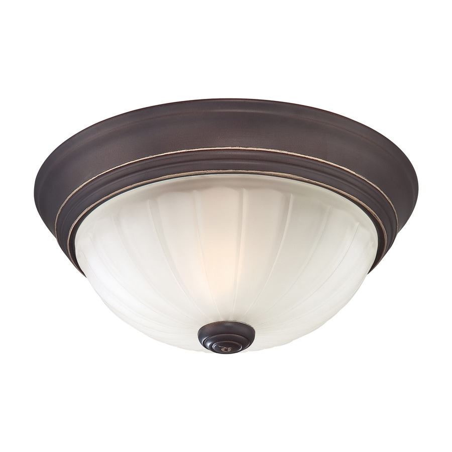 Quoizel Melon 13-in W Palladian Bronze Ceiling Flush Mount Light