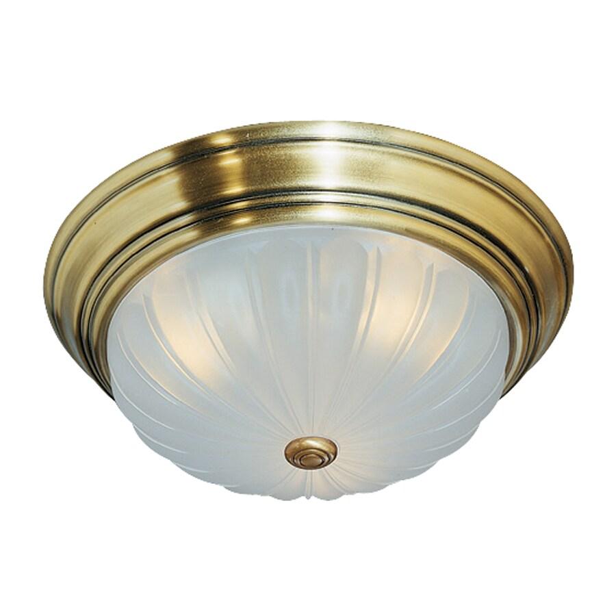 Quoizel Melon 15-in W Antique brass Flush Mount Light