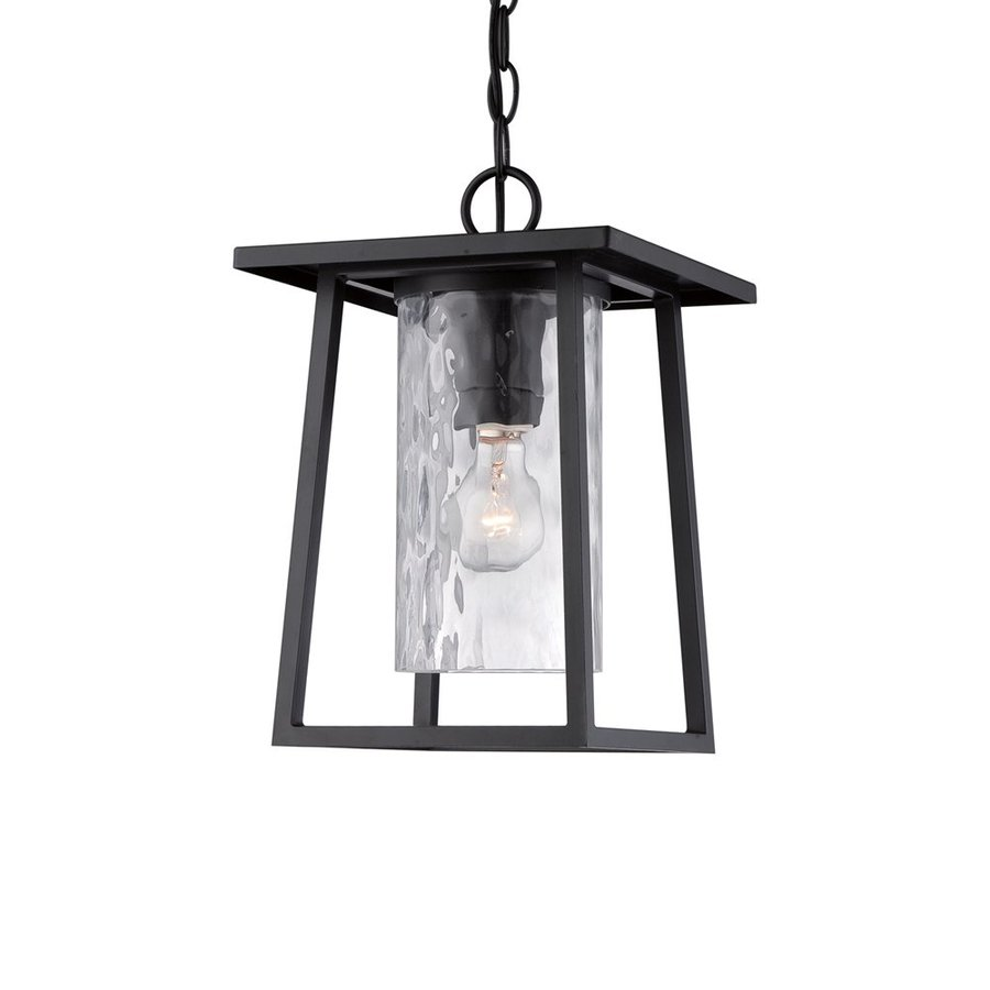 Quoizel Lodge 13.5-in Mystic Black Outdoor Pendant Light