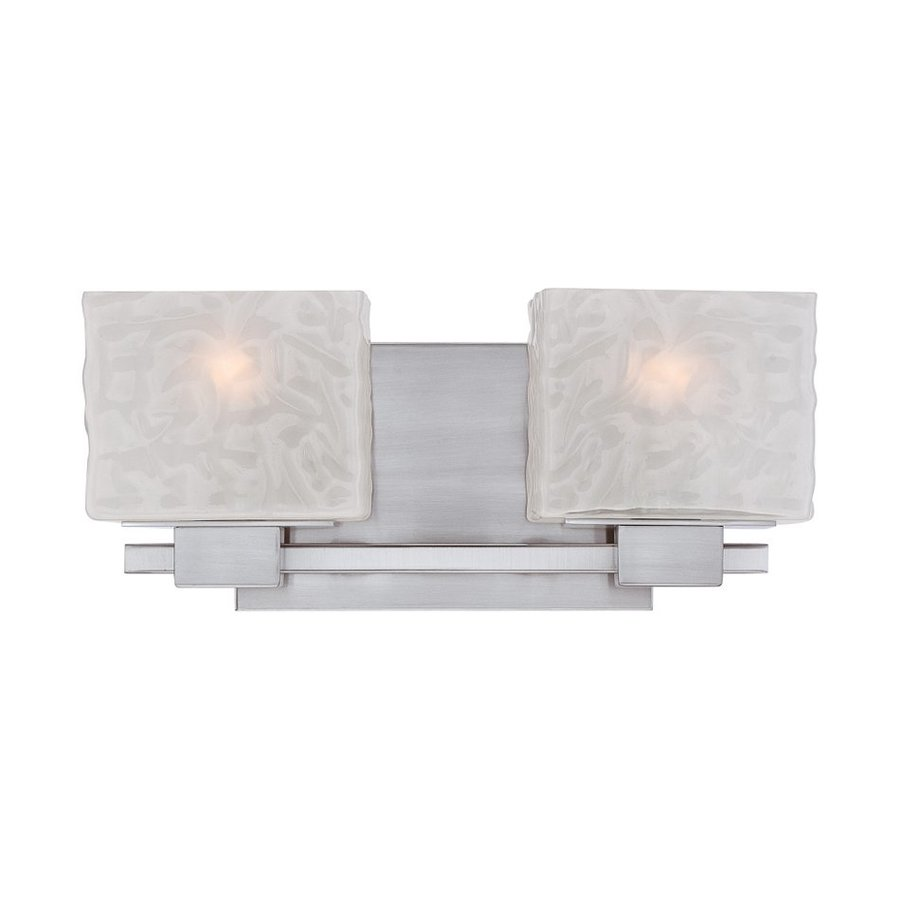 Quoizel Melody 2-Light 6.5-in Brushed Nickel Rectangle Vanity Light