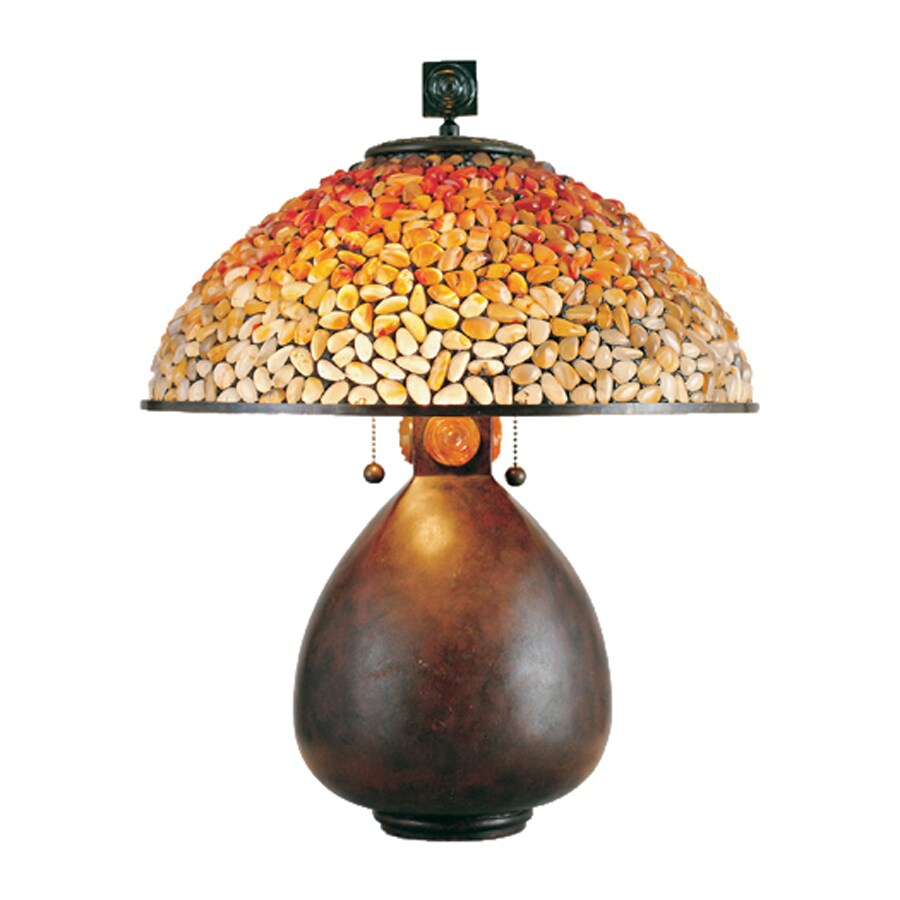 Quoizel Pomez 22 In Vintage Bronze Table Lamp With Stone