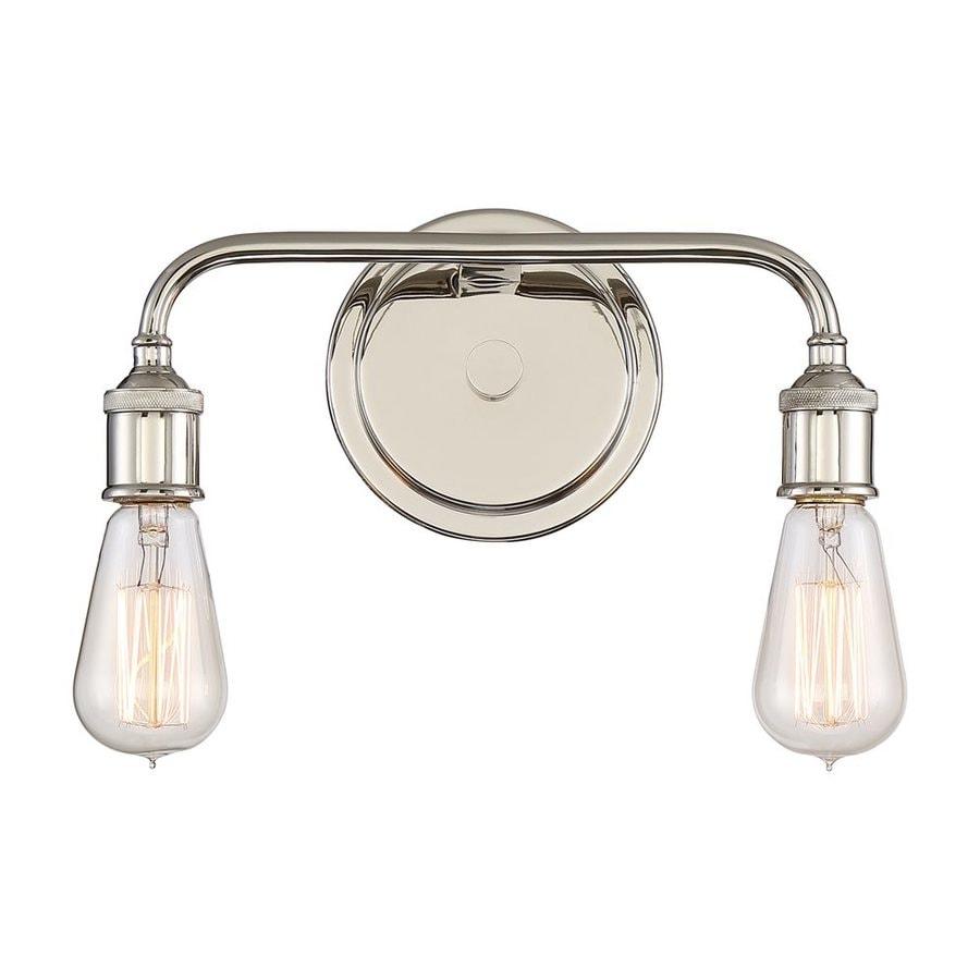 Shop quoizel menlo 2 light 12 in imperial silver vanity for Quoizel bathroom lighting