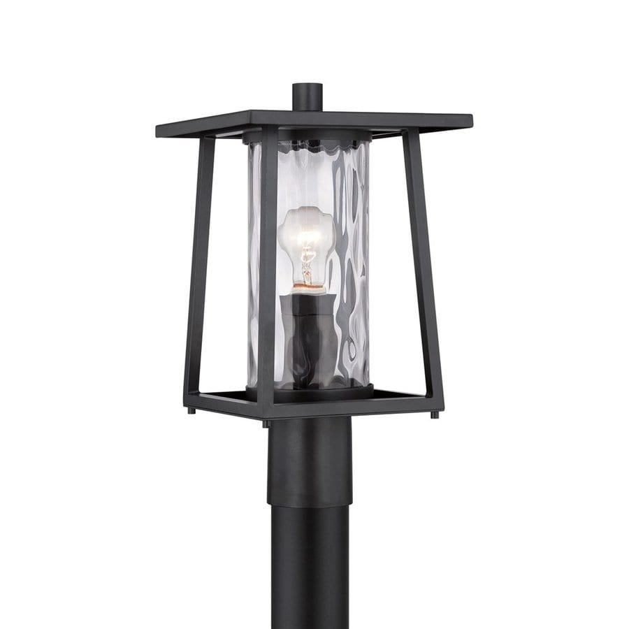 Quoizel Lodge 16-in H Mystic Black Post Light