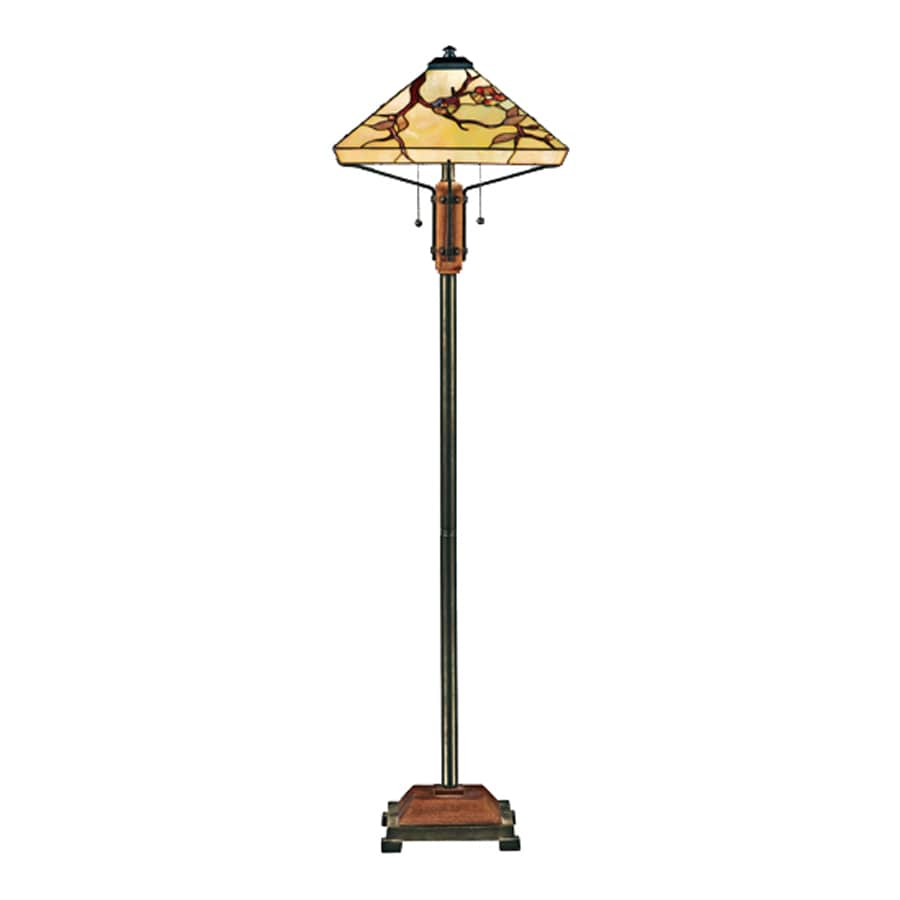 Quoizel Tiffany 60-in Multi-Colored Indoor Floor Lamp with Tiffany-Style Shade
