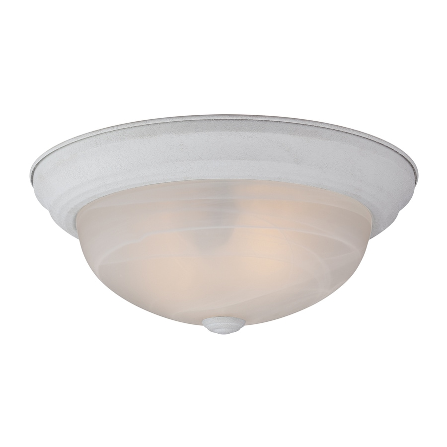 Quoizel Manor 11-in W Fresco Ceiling Flush Mount Light