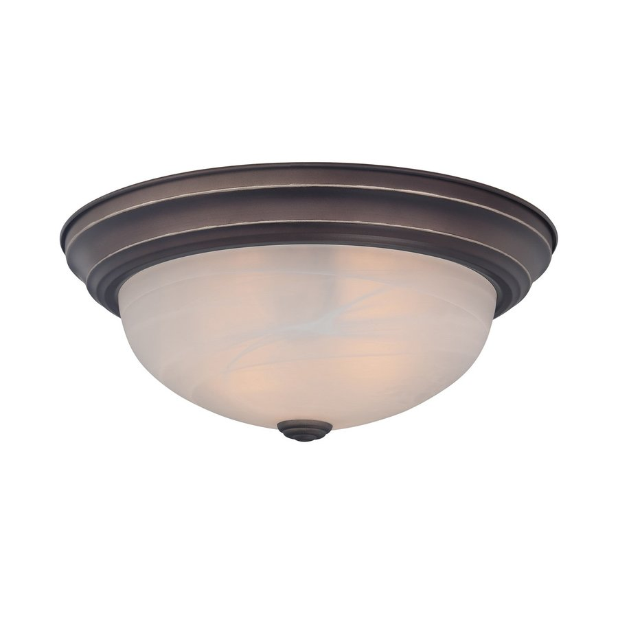 Quoizel Manor 13-in W Palladian Bronze Ceiling Flush Mount Light