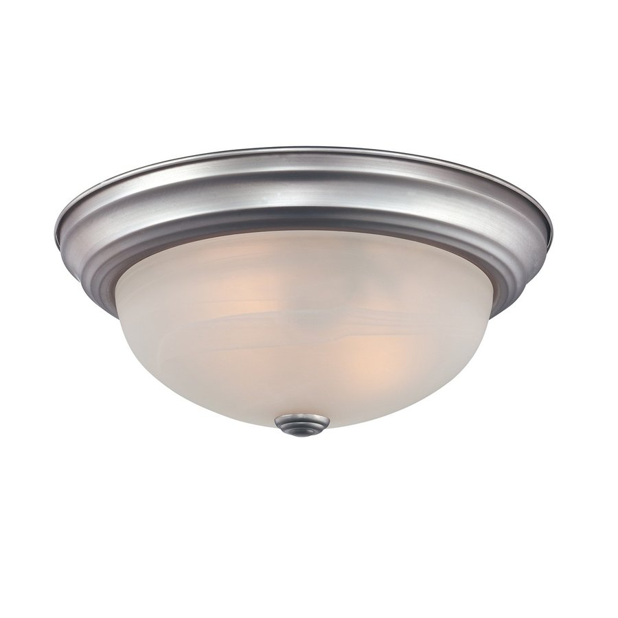 Quoizel Manor 15-in W Brushed nickel Flush Mount Light