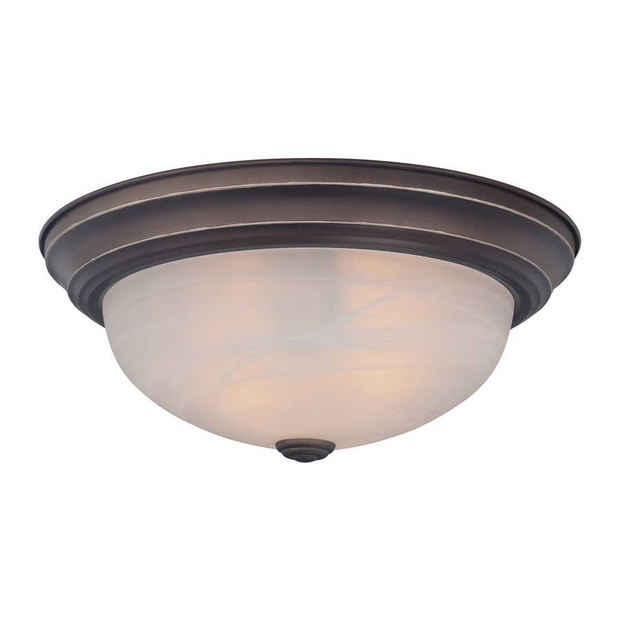 Quoizel Manor 15-in W Palladian Bronze Flush Mount Light