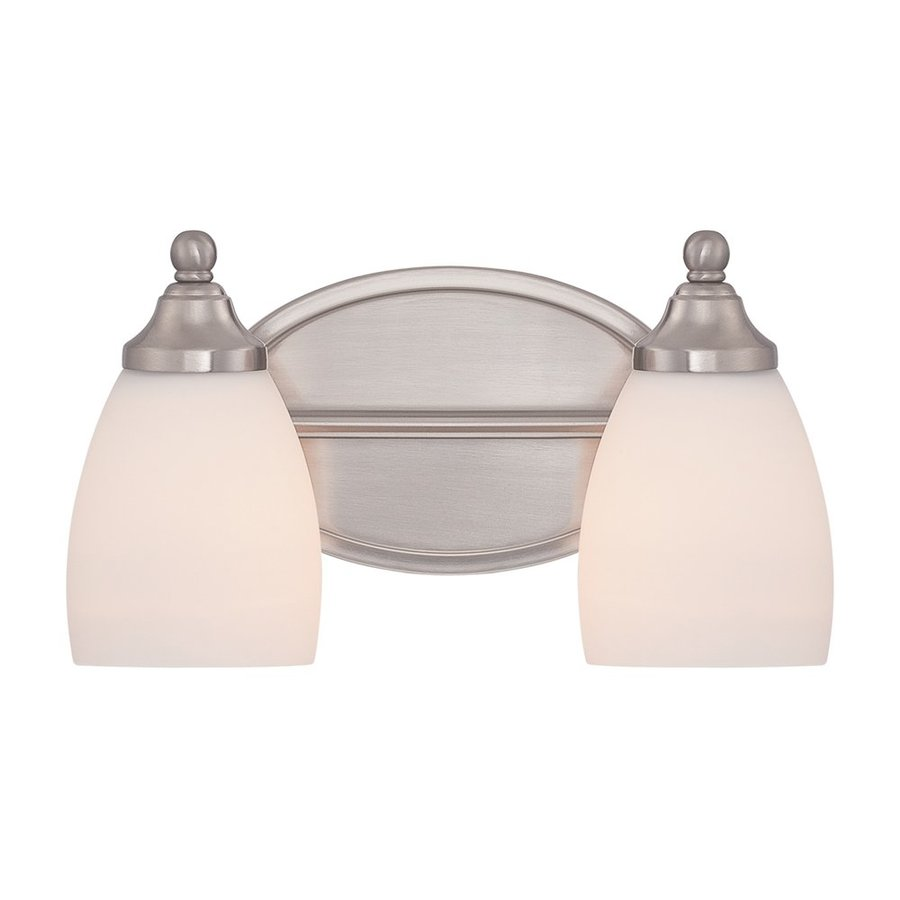 Quoizel North Gate 2-Light 7-in Brushed Nickel Bell Vanity Light