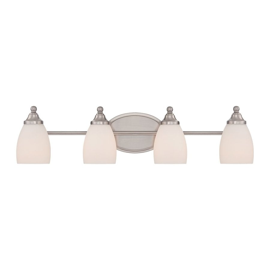 Quoizel North Gate 4-Light 7-in Brushed Nickel Bell Vanity Light