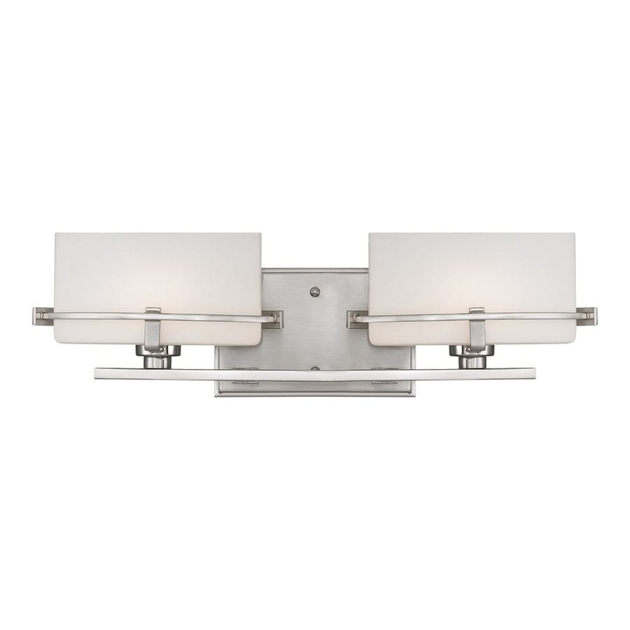 Quoizel Nolan 2-Light 5.5-in Brushed Nickel Oval Vanity Light