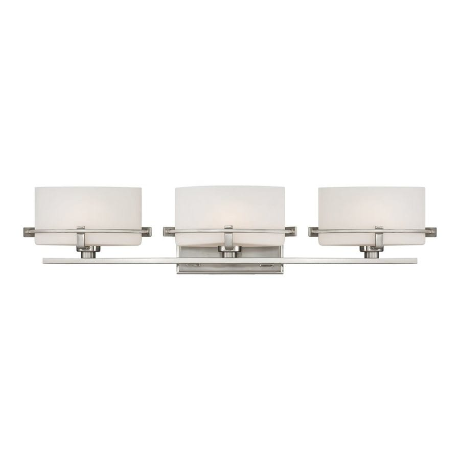 Quoizel Nolan 3-Light 5.5-in Brushed nickel Oval Vanity Light