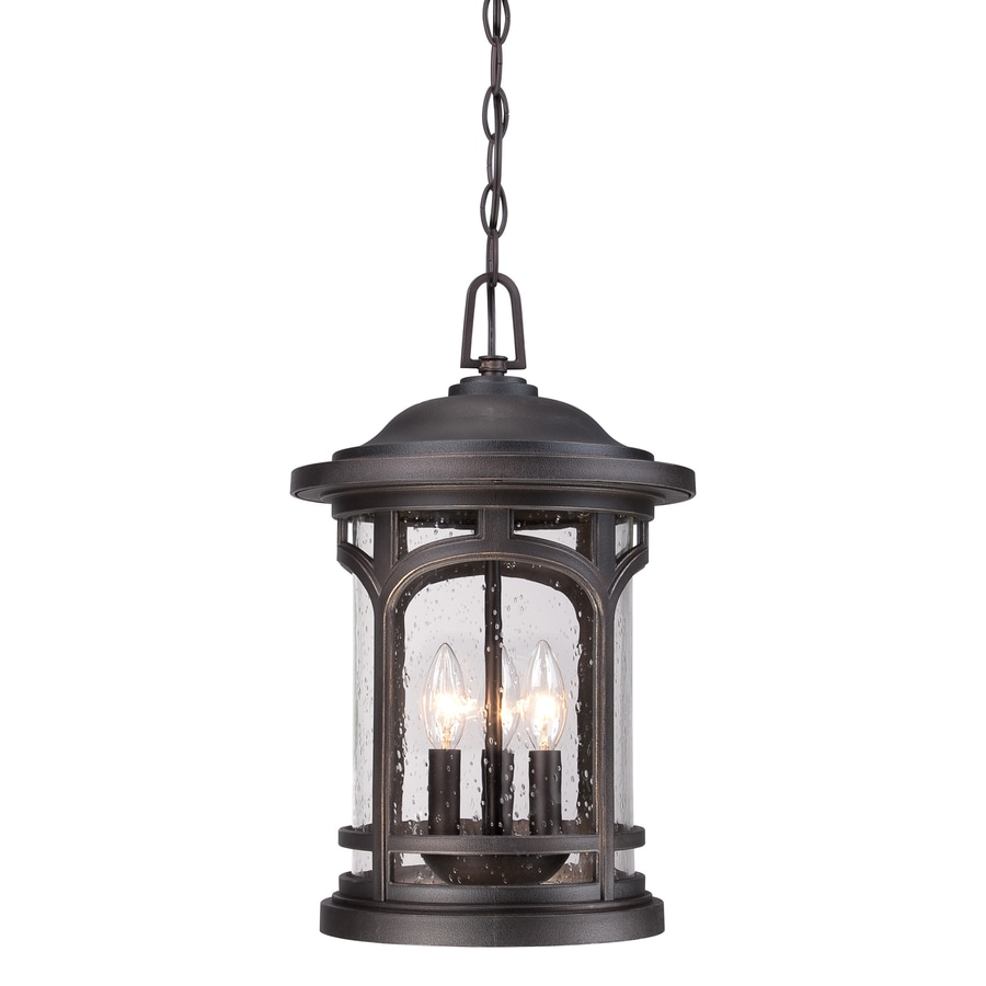 Outdoor Hanging Lanterns Lowes: Quoizel Coastal Armour Palladian Bronze Transitional