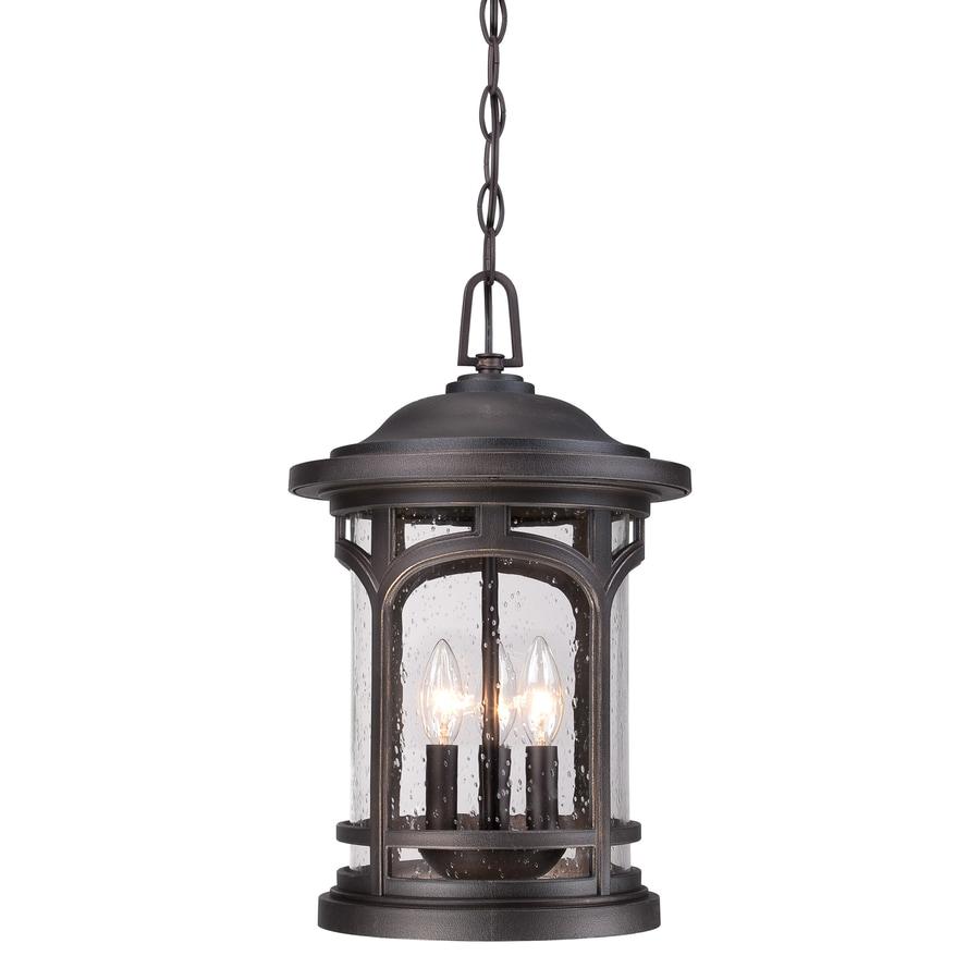 Quoizel Marblehead 18-in Palladian Bronze Outdoor Pendant Light