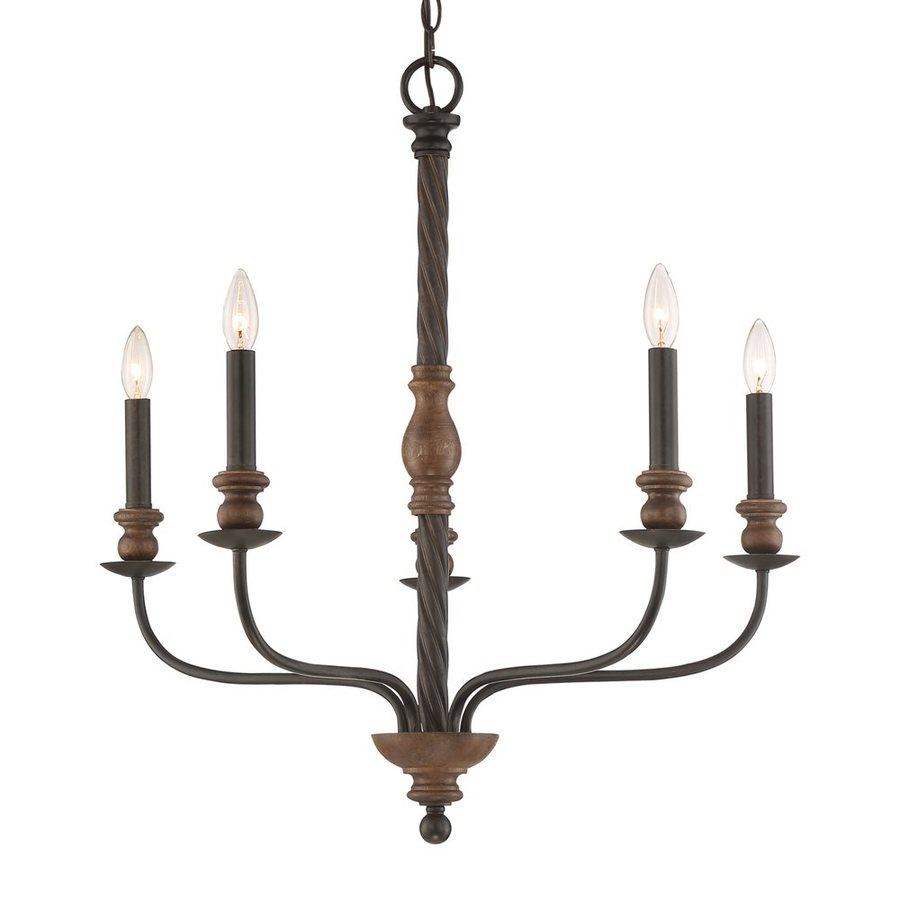 Quoizel Odell 28.25-in 5-Light Imperial Bronze Candle Chandelier