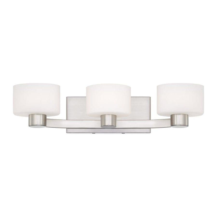 Quoizel Tatum 3-Light 4.75-in Brushed Nickel Cylinder Vanity Light
