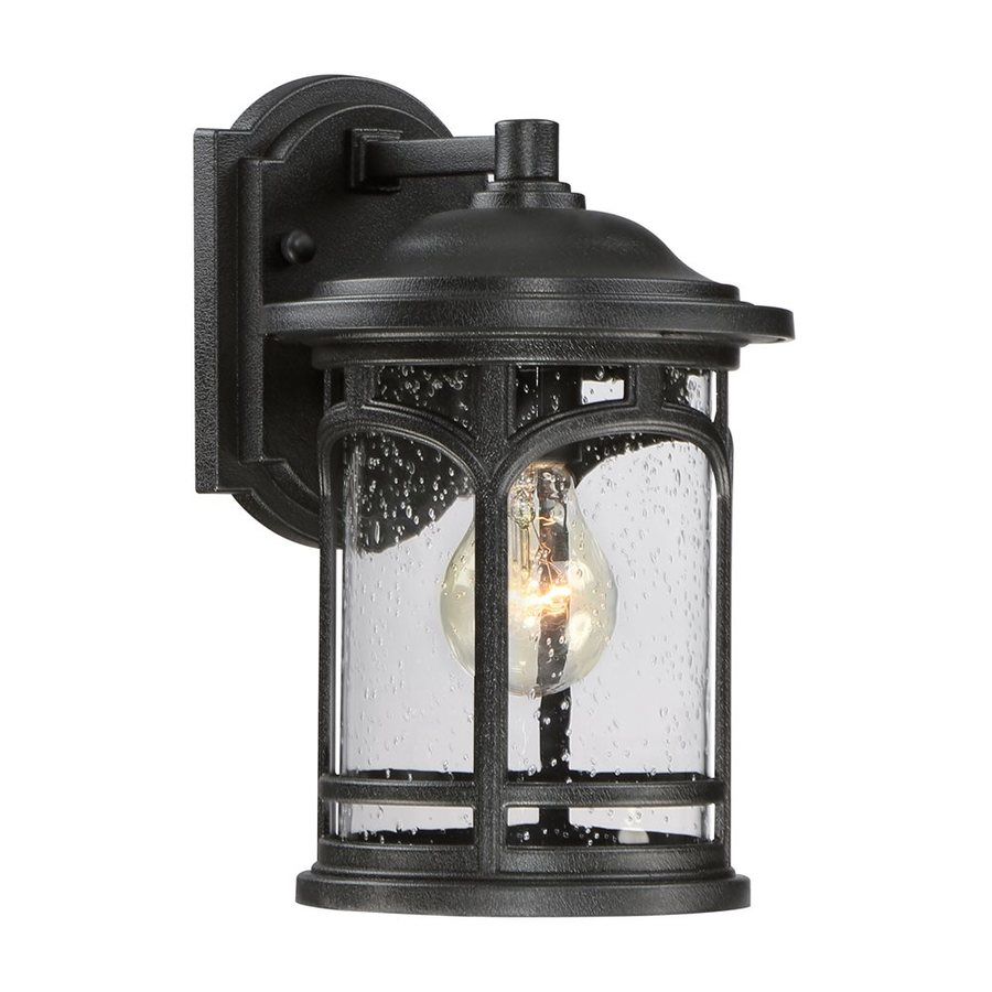 Quoizel Marblehead 11-in H Mystic Black Outdoor Wall Light