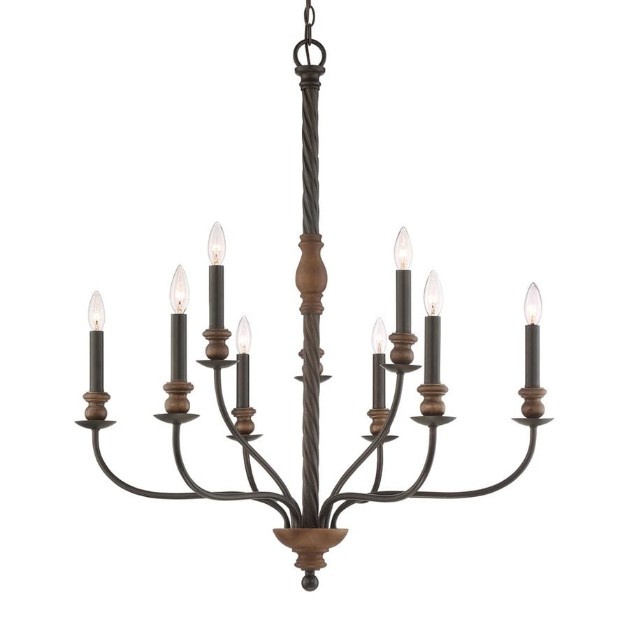 Quoizel Odell 33.5-in 9-Light Imperial Bronze Candle Chandelier