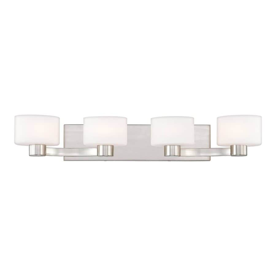 Quoizel Tatum 4-Light Brushed Nickel Cylinder Vanity Light