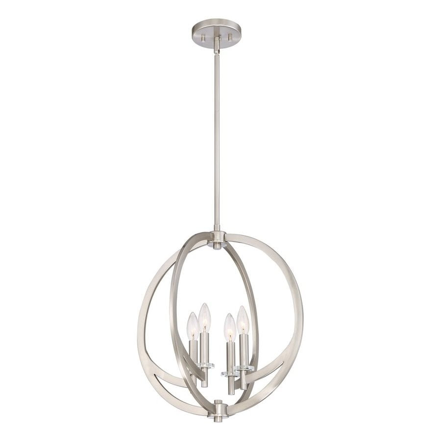 Quoizel Orion 18-in Brushed Nickel Single Orb Pendant