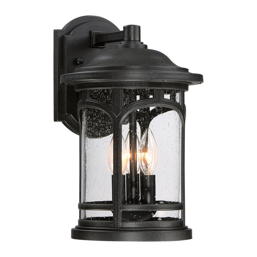 Quoizel Marblehead 14.5-in H Mystic Black Outdoor Wall Light