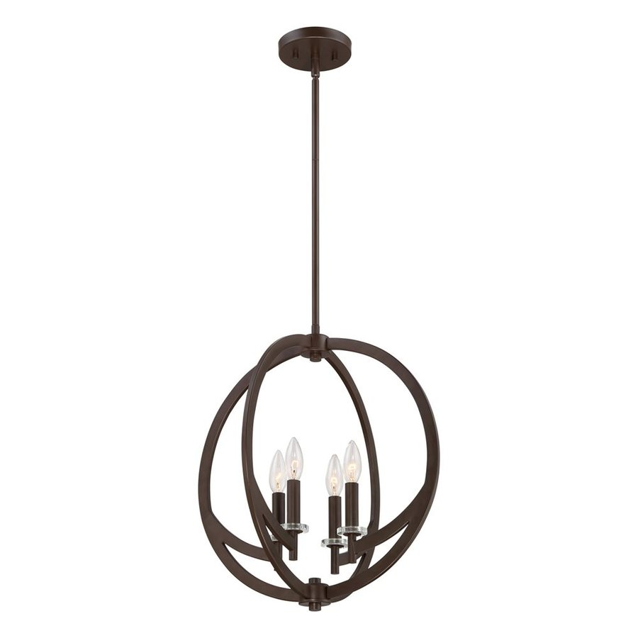 Quoizel Orion 18-in Western Bronze Single Orb Pendant