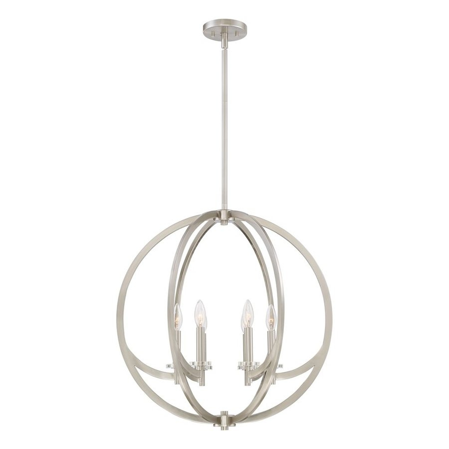 Quoizel Orion 24-in Brushed Nickel Single Orb Pendant