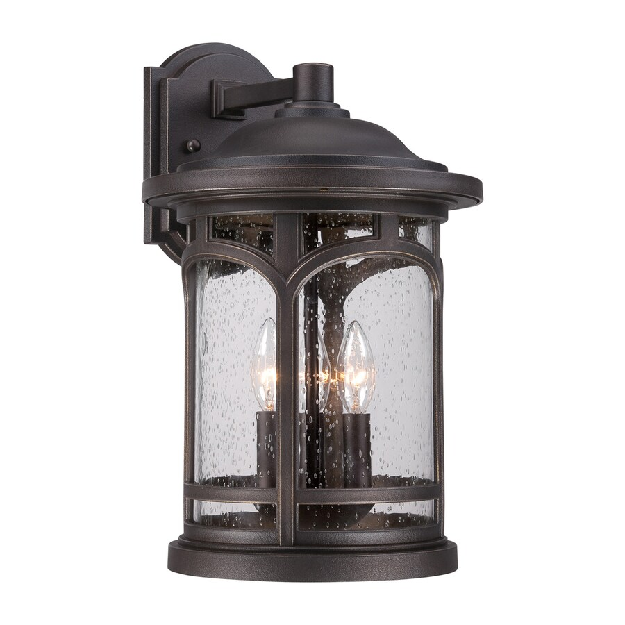 Quoizel Marblehead 17.5-in H Palladian Bronze Candelabra Base (E-12) Outdoor Wall Light