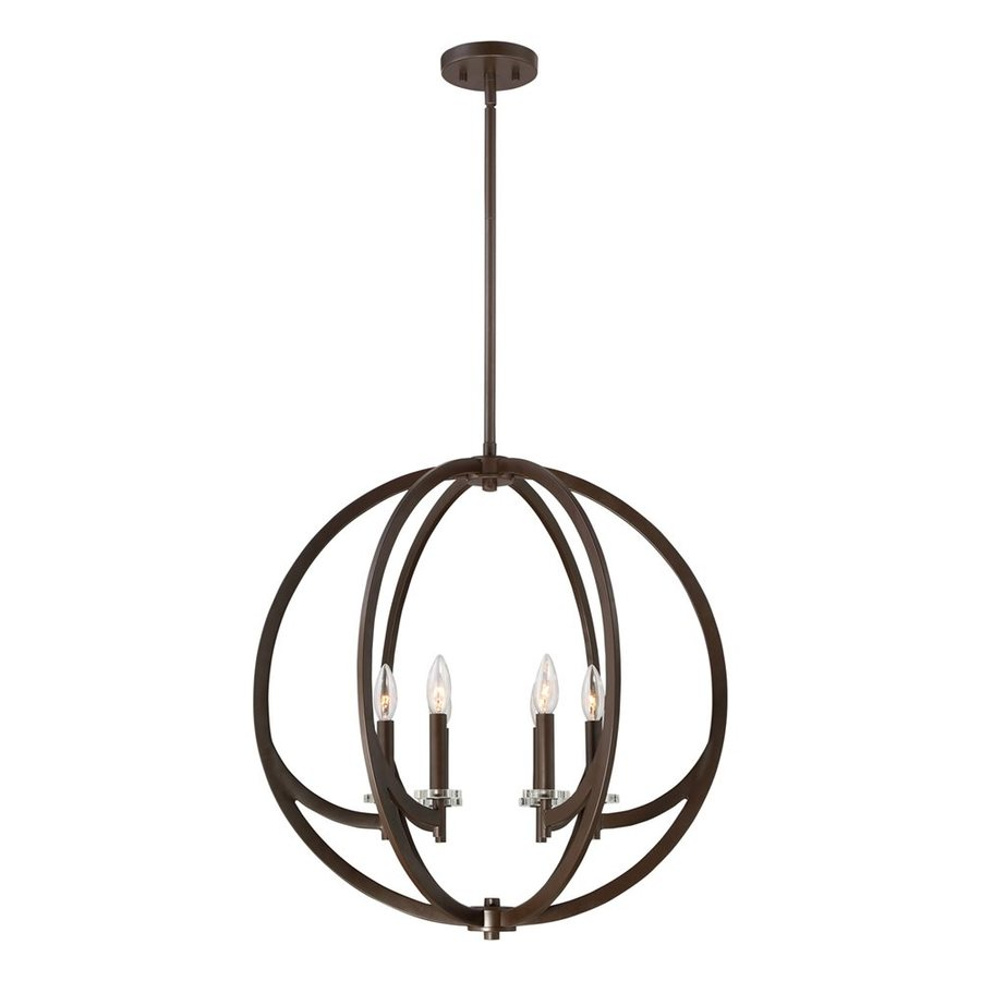 Quoizel Orion 24-in Western Bronze Single Orb Pendant