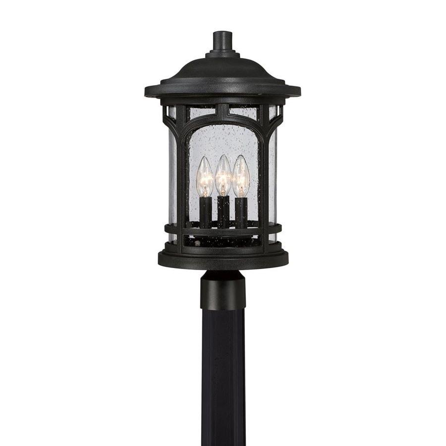 Quoizel Marblehead 19-in H Mystic Black Post Light