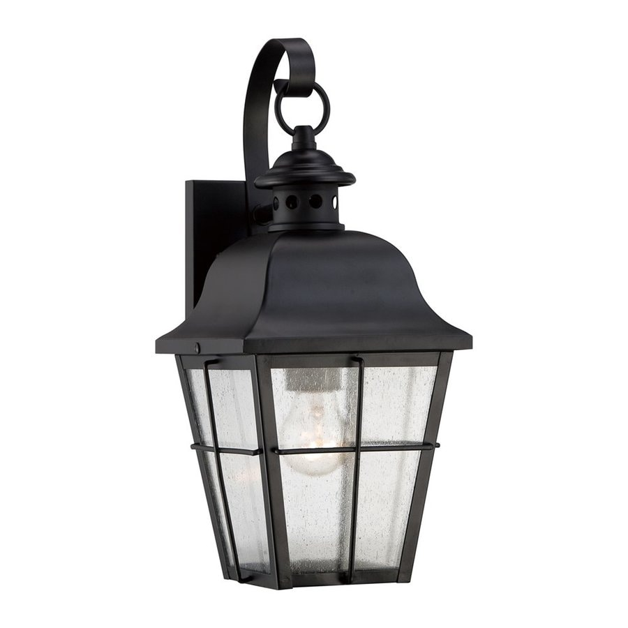 Quoizel Millhouse 15.5-in H Mystic Black Outdoor Wall Light