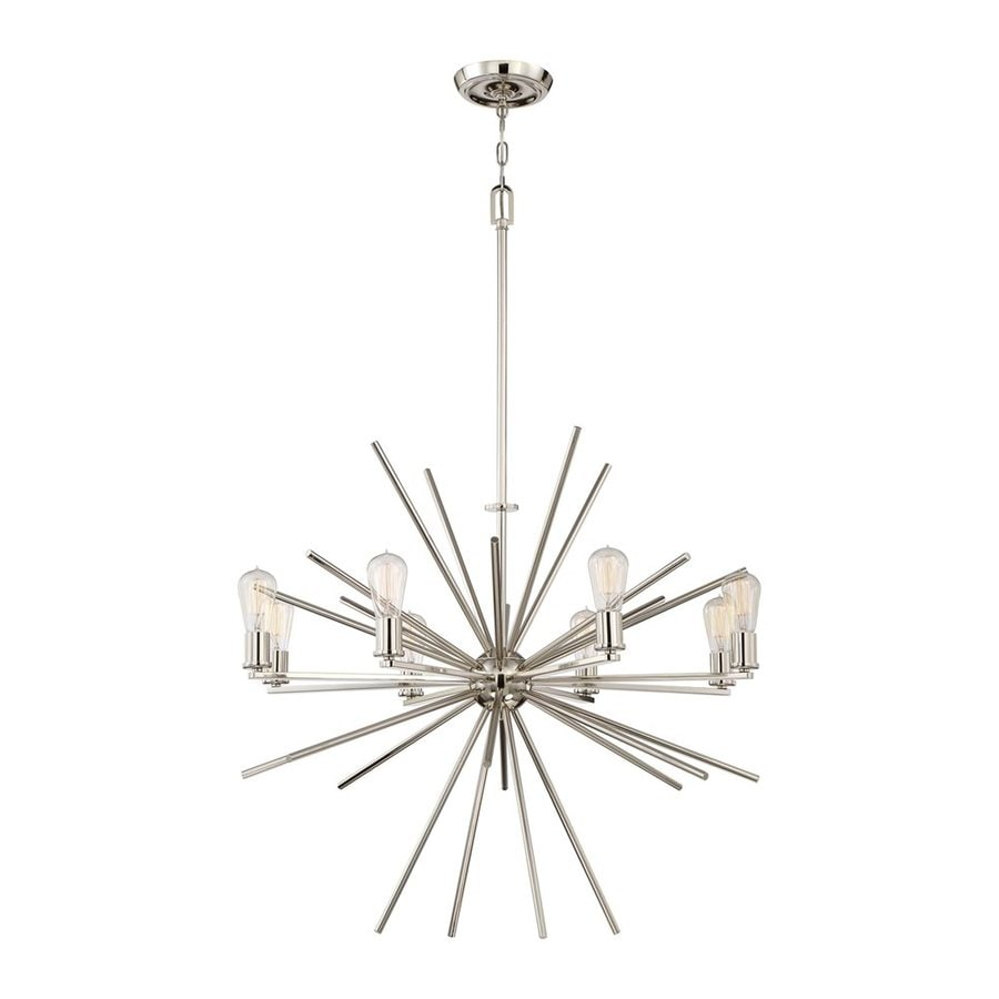Quoizel Uptown Carnegie 34-in 8-Light Imperial silver Abstract Chandelier