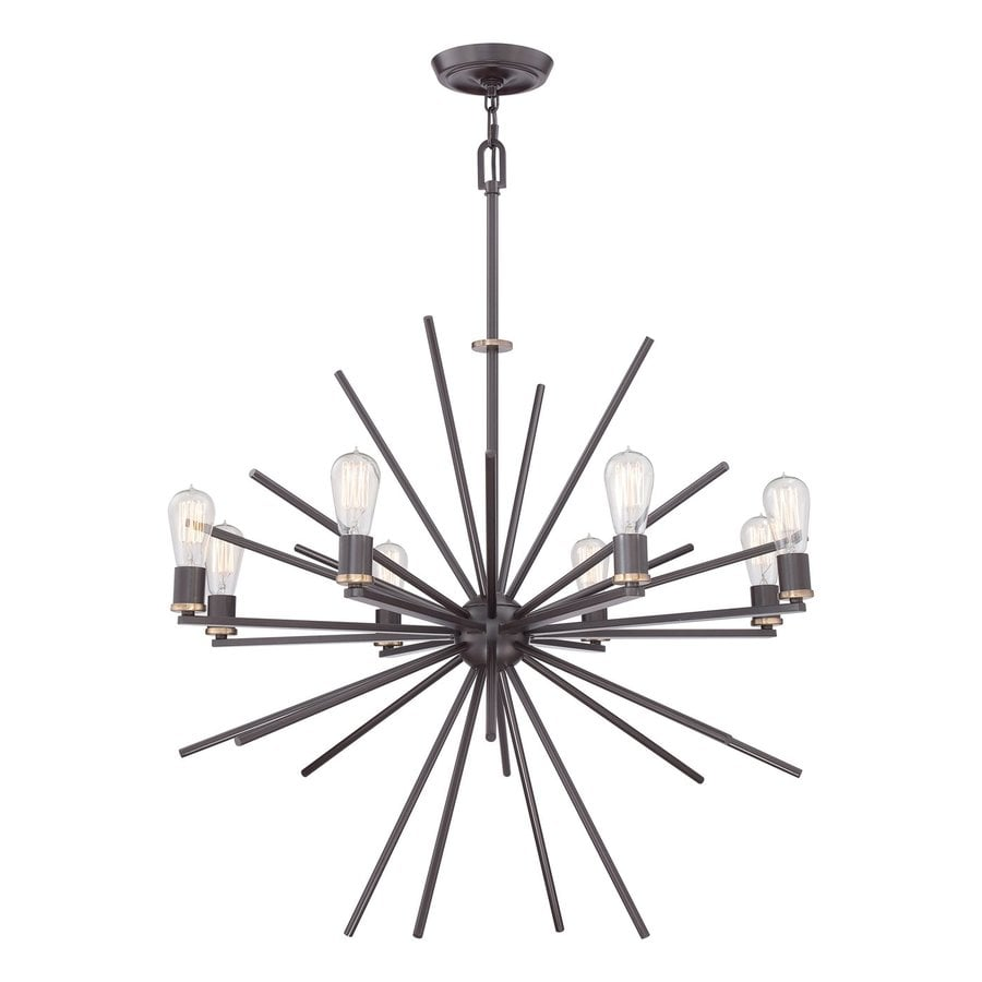 Quoizel Uptown Carnegie 34-in 8-Light Western Bronze Abstract Chandelier