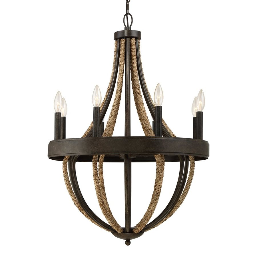 Quoizel Pembroke 23-in 8-Light Tarnished Bronze Rustic Candle Chandelier